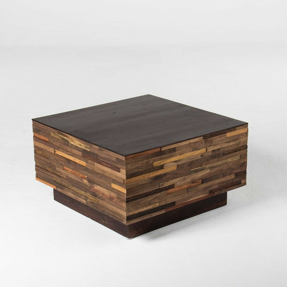 28 W Square Coffee Table Solid Mixed Solid Woods Black Walnut Handmade Modern Ebay