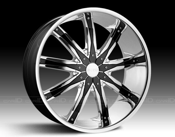 28 inch Dcenti DW29 Wheels Rims Tires Fit Chevy Cadillac GMC Nissan Ford Lincoln