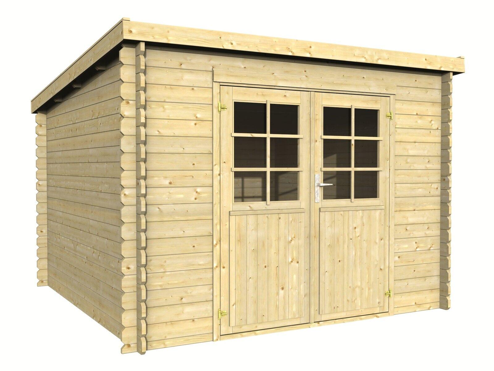 28 mm gartenhaus luna 300x300 cm ger tehaus holz holzhaus schuppen blockhaus ebay. Black Bedroom Furniture Sets. Home Design Ideas