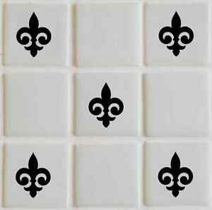 28 X Fleur Tile Transfers Stickers Graphics Decals Bathroom TI6 EBay