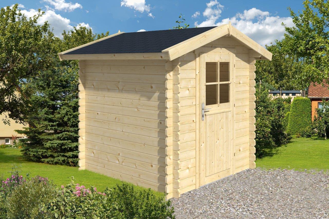 28mm gartenhaus 200x200 cm schuppen ger tehaus blockhaus. Black Bedroom Furniture Sets. Home Design Ideas