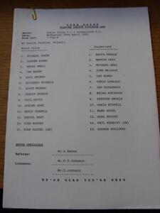 29-04-1995-Aston-Villa-Reserves-v-Sunderland-Reserves-At-Walsall-Single-Sheet