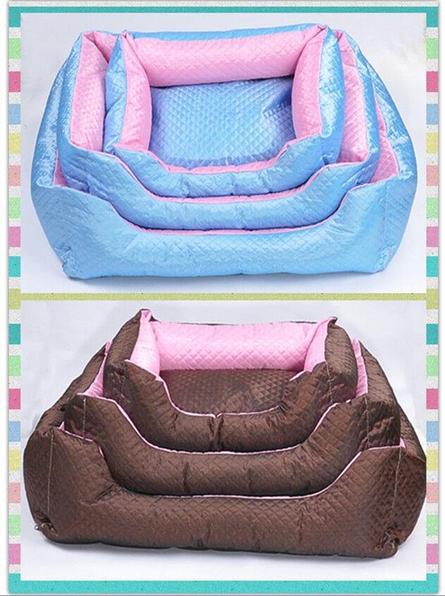 Cute 2 Colors Options Pet Dog Cat Warm Soft Bed House Plush Cozy Nest Mat Pad