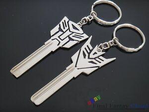 2Pcs Transformers Logo uncut spare key blank keychain ...