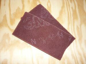 2st schleifvlies 3m handpad polieren schleifen edelstahl metall holz rot ebay. Black Bedroom Furniture Sets. Home Design Ideas