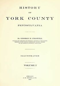 2Vol 1907 Genealogy History York County Pennsylvania PA in Everything Else, Genealogy, County, State History | eBay