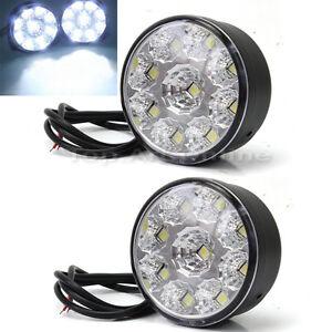 2X-Super-Hell-9-LED-Scheinwerfer-Auto-Lampe-Tagfarlicht ...