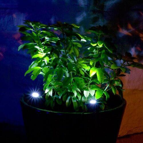 2er set led solar strahler spotlight wei e led garten weg. Black Bedroom Furniture Sets. Home Design Ideas