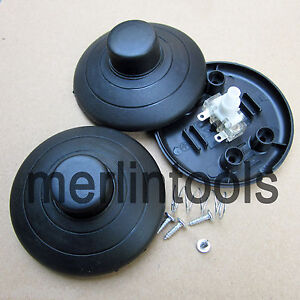 2pcs Black In Line Inline Lamp Foot Push Switch Power