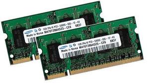 2x-1GB-RAM-Speicher-Fujitsu-Siemens-AMILO-Pi1505-Pi1536-Samsung-DDR2-667-Mhz