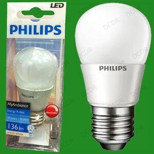 2x-3W-Gluehbirnen-von-Philips-Dimmbar-LED-Ultra-Energiesparend-Es-E27
