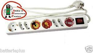 2x-8-fach-Steckdosenleiste-4x-Schukostecker-4x-Eurostecker-mit-Ein-Aus-Schalter
