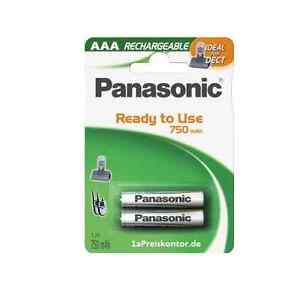 2x-Akku-AAA-Micro-Panasonic-Stay-Charged-P03P-750-mAh-EVOLTA-DECT-NiMH