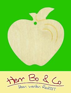 2x apfel herbst basteln malen holz dekoration deko for Apfel basteln herbst
