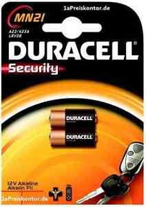 2x-Batterie-A23-MN21-Duracell-Security-Alkaline-12V-MHD-2018-23A-LRV08-V23GA