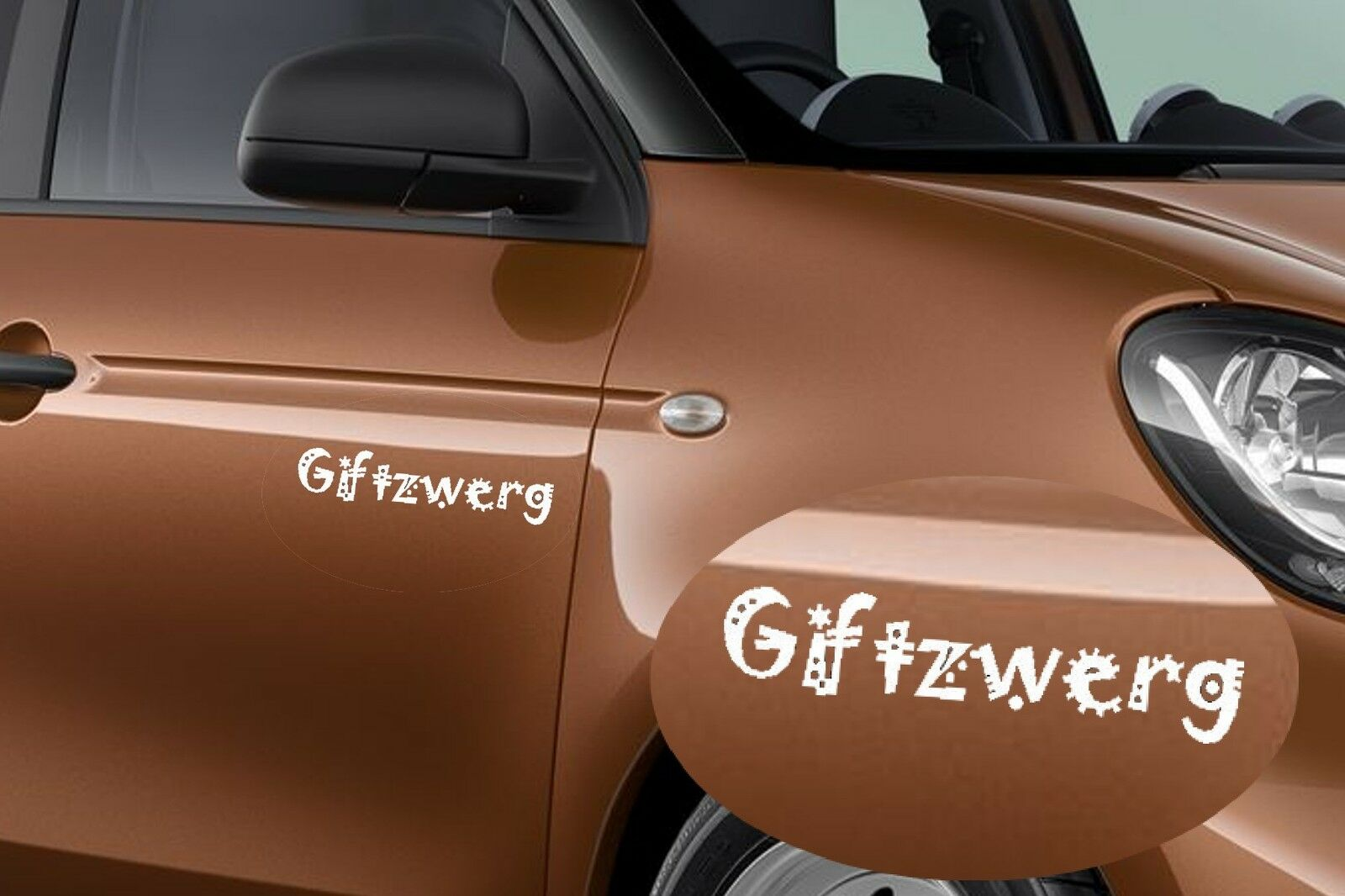 Smart car sticker designs - Without Giving Follows Delivery To White