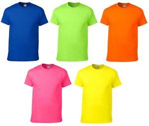 2x herren basic neon t shirts a779 anvil rundhals neonfarben shirt s m l xl xxl ebay. Black Bedroom Furniture Sets. Home Design Ideas