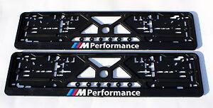 2x-Kennzeichenhalter-Nummernschildhalter-fuer-BMW-M-POWER-M-Performance