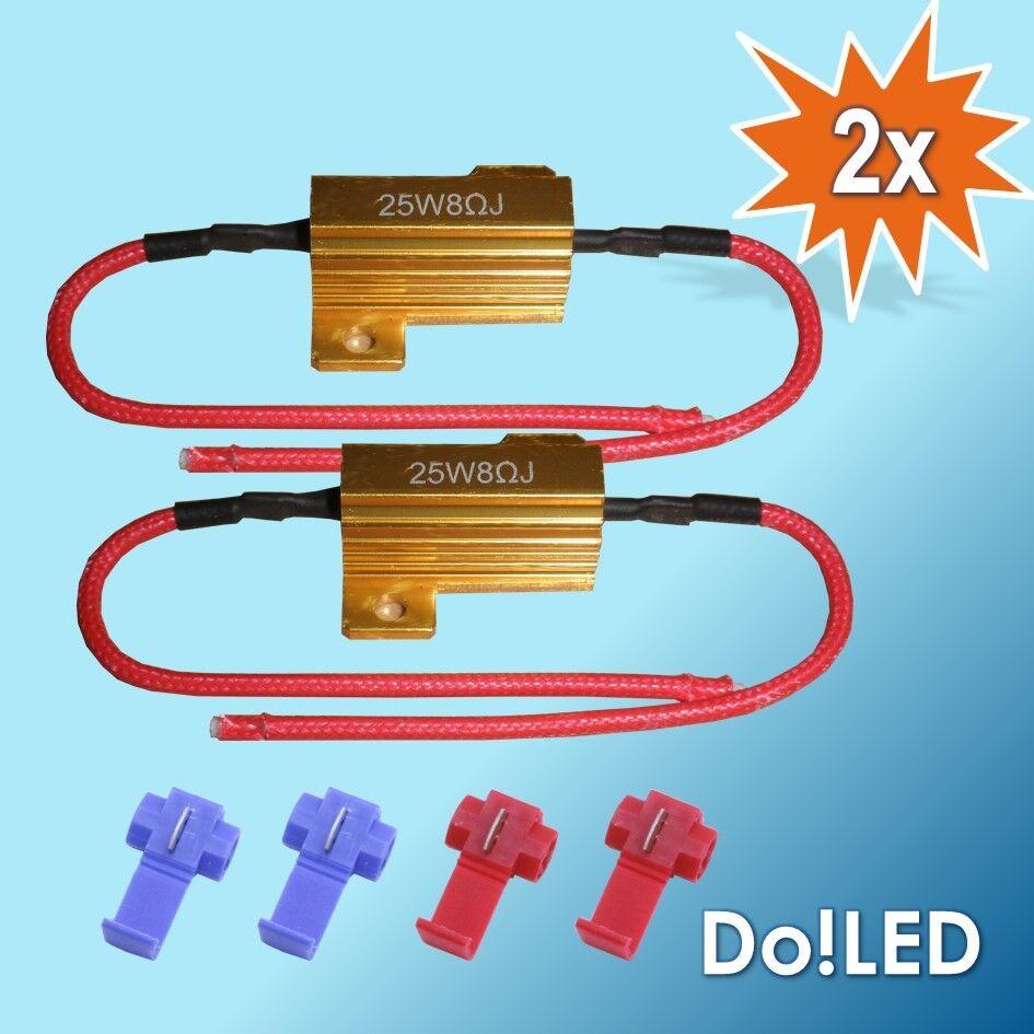 2x led smd lastwiderst nde widerst nde blinker 25w 8ohm kabel widerstand. Black Bedroom Furniture Sets. Home Design Ideas