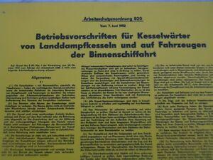 2x-Schild1952-DDR-Kesselwaerter-Landdampfkessel-Binnenschiffahrt-Dampfmasch
