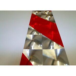 2x warntafel rot wei 3d hologramm aufkleber f r lkw bus. Black Bedroom Furniture Sets. Home Design Ideas