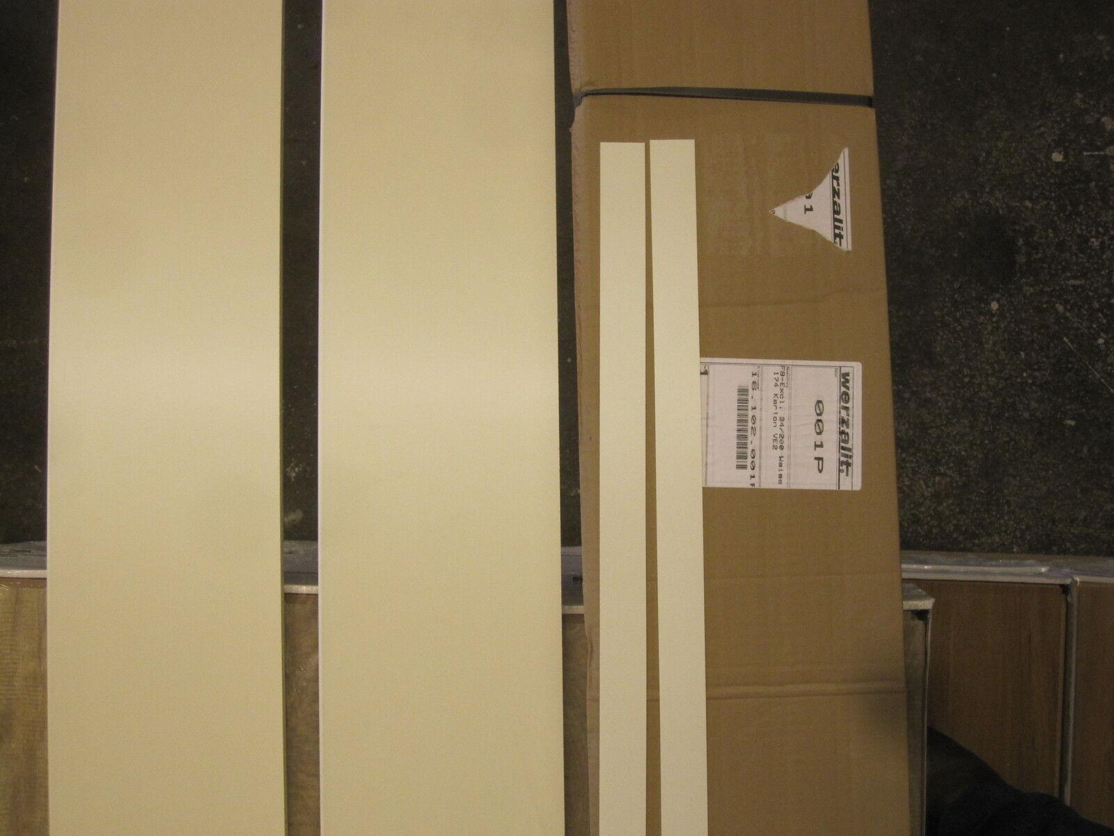 2x werzalit fensterbank weiss laminat innenfensterbank restposten holz 174x30 cm ebay. Black Bedroom Furniture Sets. Home Design Ideas