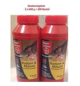 2x500 g bayer racumin ratten m use portionsk der rattengift m usegift beutel ebay. Black Bedroom Furniture Sets. Home Design Ideas