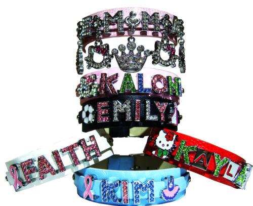"3/4"" Wide Personalized Bracelet Free Message Name & Charm Birthday Gift All Age in Jewelry & Watches, Fashion Jewelry, Bracelets | eBay"