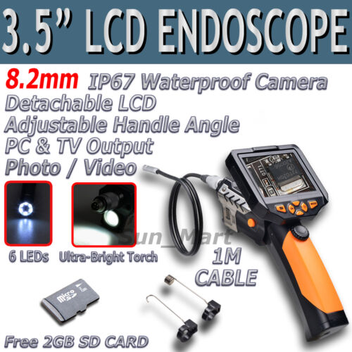 "3.5"" LCD Inspection Camera 8.2 mm Borescope Endoscope Scope Zoom Rotate 1M Cable in Consumer Electronics, Gadgets & Other Electronics, Other 