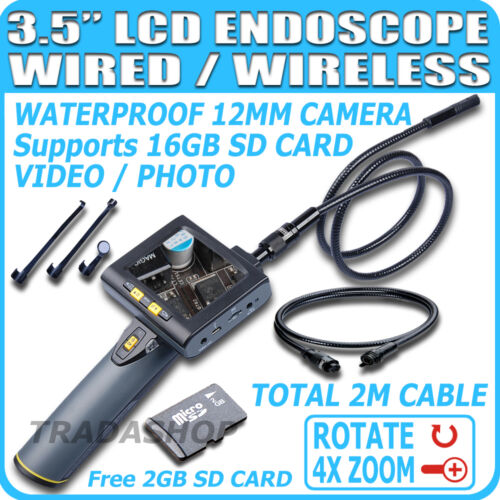 "3.5"" LCD Wireless Inspection 2M Tube Camera Borescope Endoscope USB Zoom Rotate in Consumer Electronics, Gadgets & Other Electronics, Other 