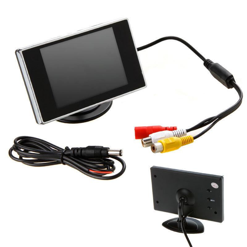 "3 5"" TFT LCD Car Rear View Monitor Color Screen DVD VCR for Car Backup Camera"