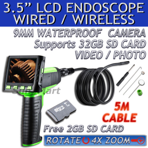 "3.5"" Wireless TFT LCD Inspection Camera Borescope Endoscope Zoom Rotate 5M Cable in Consumer Electronics, Gadgets & Other Electronics, Other 