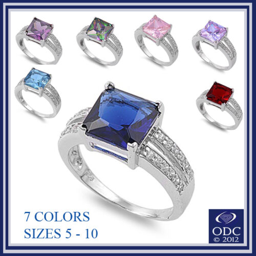 3.50CT Gemstone Fashion Rnig Size 5-10 .925 Sterling Silver Ring Size 5-10 in Jewelry & Watches, Fashion Jewelry, Rings | eBay