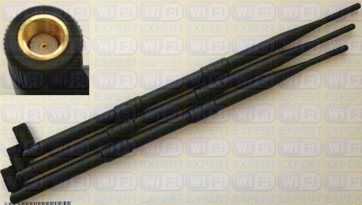 4 9dBi RP-SMA WiFi Dual Band Antennas for Asus RT-N66U RT-AC66U AC1750 D-link