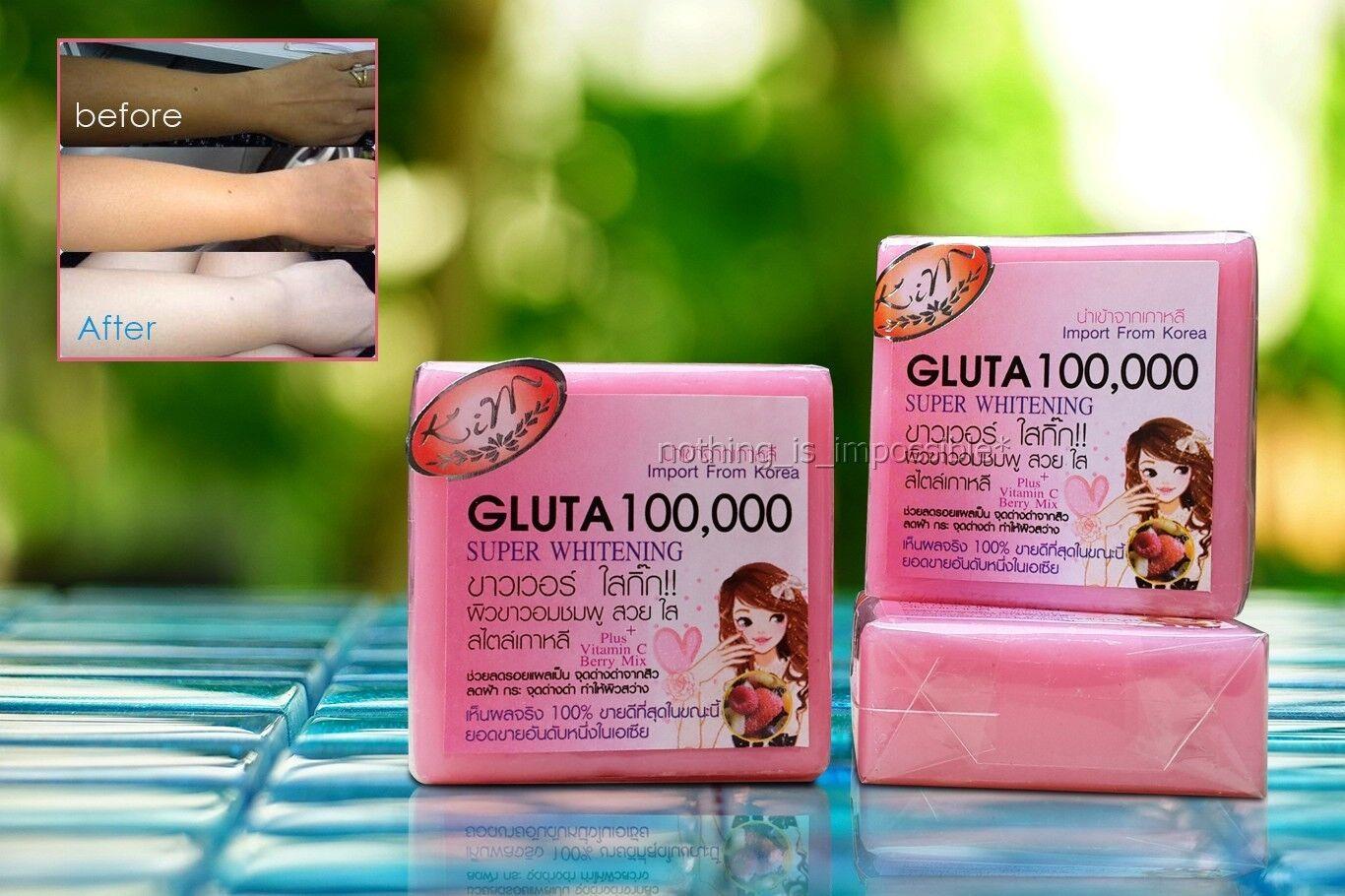 ... SOAP 3 BARS GLUTA 100000 SUPER WHITENING SKIN BLEACHING FORMULA