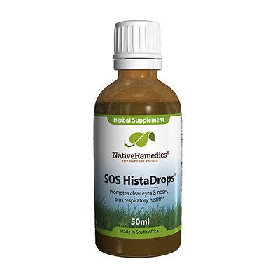 3 Bottles Native Remedies SOS HistaDrops Quick Allergy Relief - Antihistamine