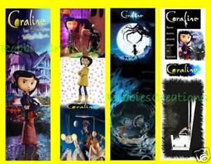 3 CORALINE BOOKMARKS Neil Gaiman DVD Movie Henry Selick in Books, Accessories, Bookmarks | eBay