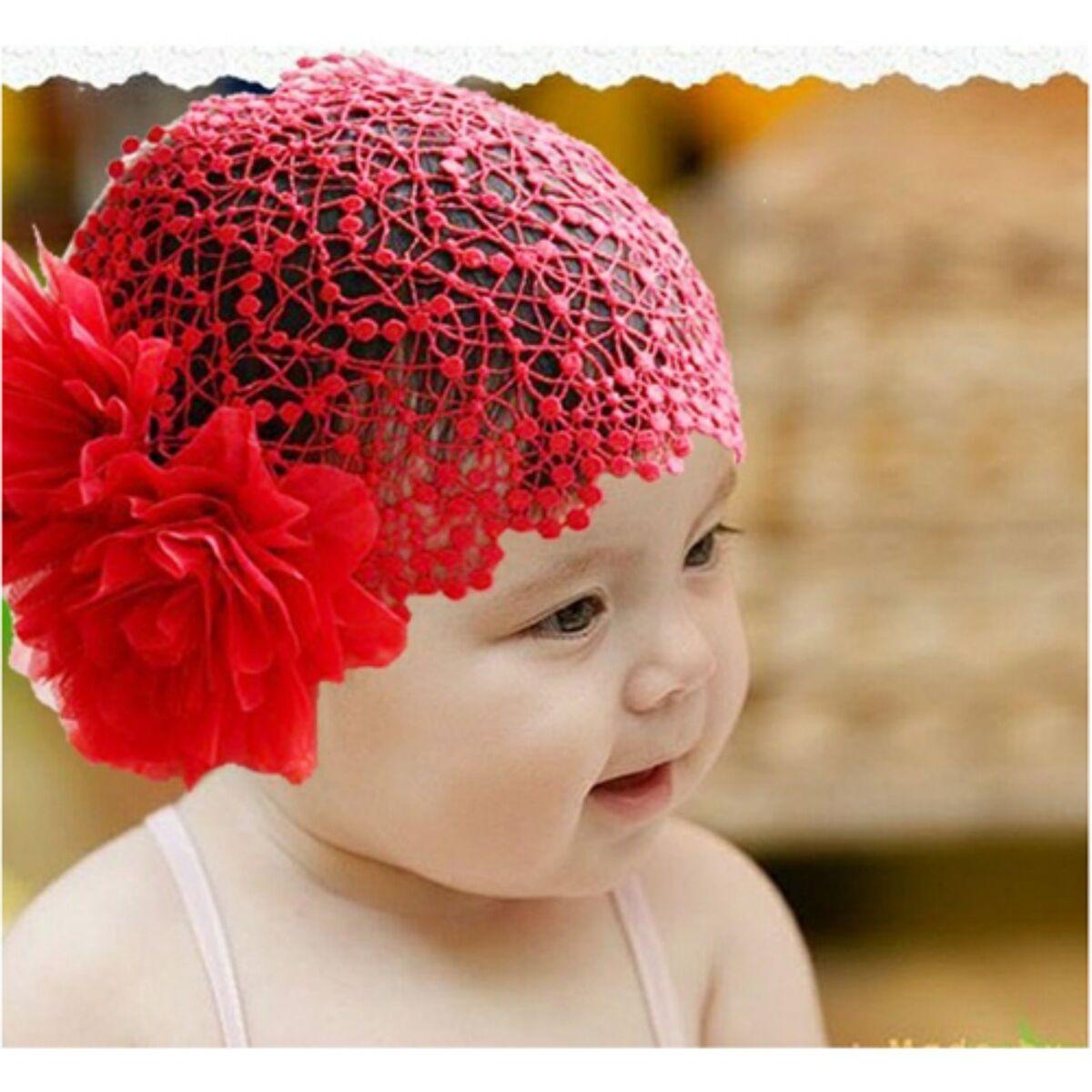 3 Color Flower Headband Newborn Baby Girl Elastic Hairband Hair Accessories