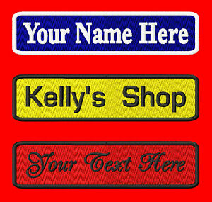 3 Custom Embroidered Name Patches in Specialty Services, Custom Clothing & Jewelry, Other | eBay