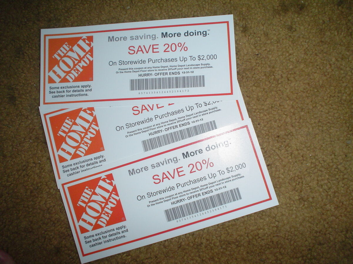 Home depot coupon promo code