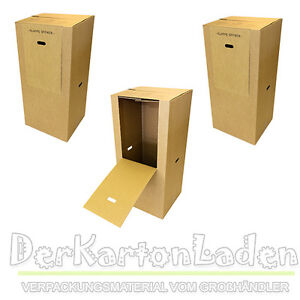 3 kleider box kleiderkarton kartons umzugskartons umzug ebay. Black Bedroom Furniture Sets. Home Design Ideas