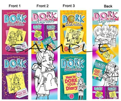 3 LOT- DORK DIARIES BOOKMARKS Book Marker Not-So Dork Diary Stocking Stuffer in Books, Accessories, Bookmarks | eBay
