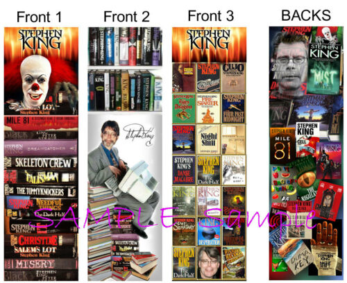 3 Lot-STEPHEN KING BOOKMARKS Horror Carrie IT Mist Bag of bones Steven Book Mark in Books, Accessories, Bookmarks | eBay