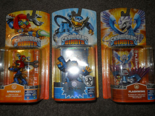 3 NEW SKYLANDERS GIANTS LIGHTCORE JET VAC FLASHWING & SPROCKET FAST SHIPPING in Toys & Hobbies, Action Figures, TV, Movie & Video Games | eBay