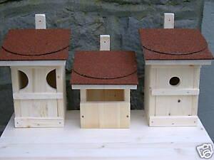3 nistkasten nistk sten futterhaus f r meisen und andere v gel neu ebay. Black Bedroom Furniture Sets. Home Design Ideas