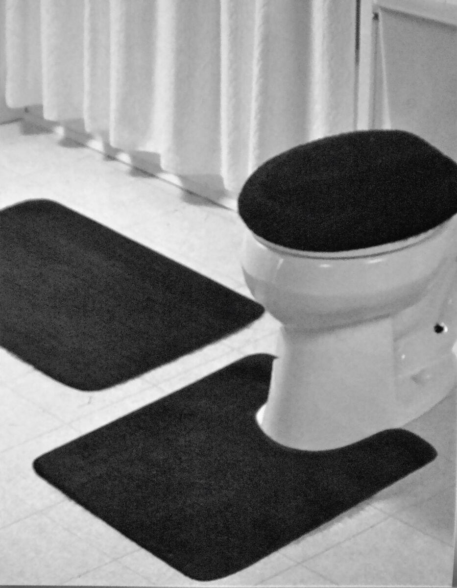 Lastest Bathroom Bath Amp Pedestal MatRug Set With Matching Toilet Seat Cover