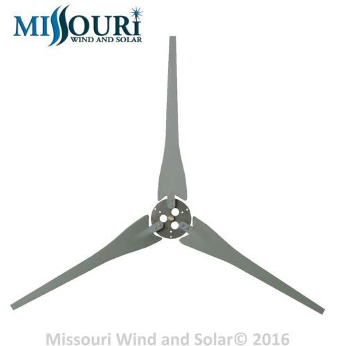 3 Raptor Generation 4 Gray Wind Turbine Generator Blades