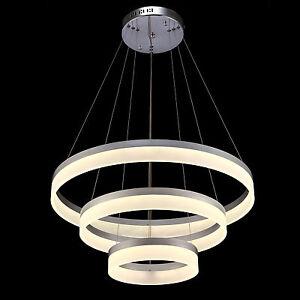 3 ringe moderne led design designer h ngeleuchte pendelleuchte deckenleuchte ebay. Black Bedroom Furniture Sets. Home Design Ideas