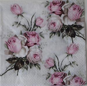 3 servietten roses rosen nostalgie sagen vintage ebay. Black Bedroom Furniture Sets. Home Design Ideas
