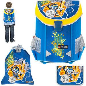 3-Teile-Ranzen-LEGO-EASY-Schulranzen-Tornister-1-4-Klasse-Ritter-NEXO-KNIGHTS-BL